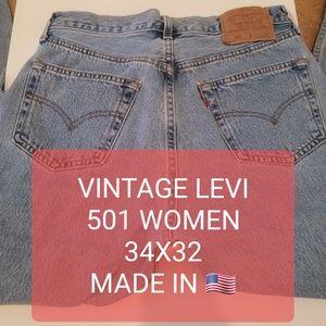 Vintage 501 Levi's Jeans Button Up 34x32